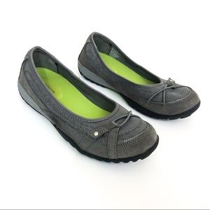 Croft & Barrow Janine Gray and Green Suede Loafers